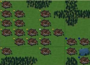 tribal wars kaart uitgebouwde dorpen